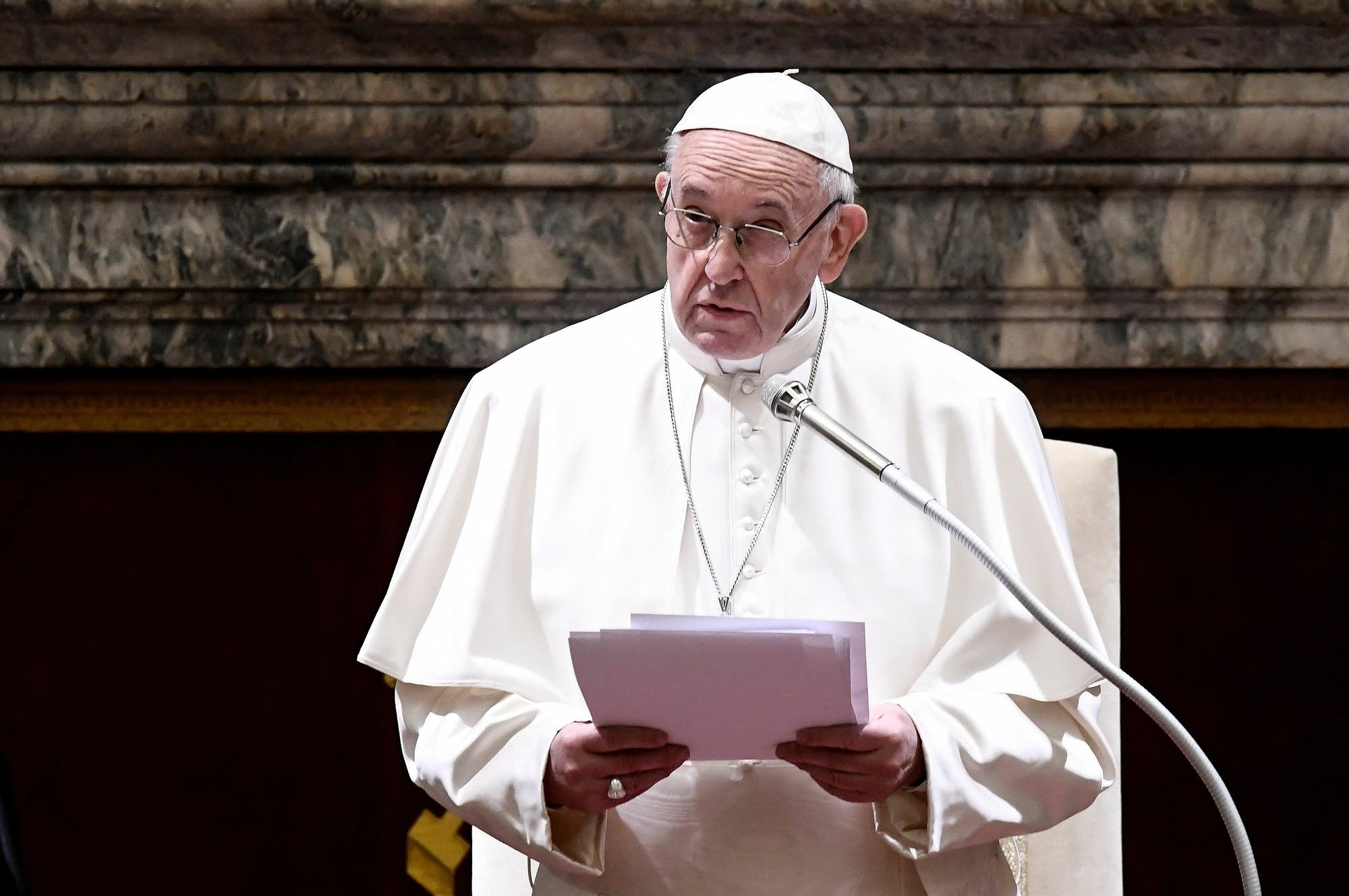 26f2c85483 Pope Francis chairs the annual address to the Church's governing Curia.