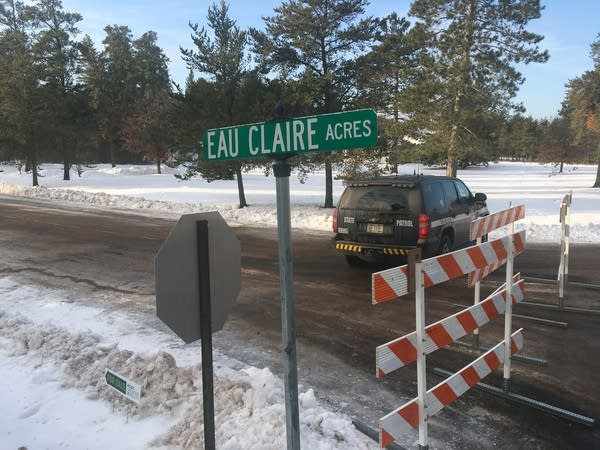 The street with Jayme Closs was found is barricaded.