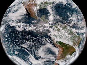 GOES-17 took its first full-disk snapshot of Earth on May 20, 2018.