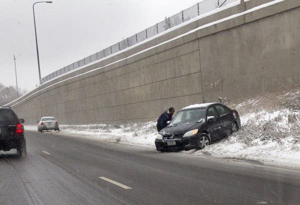 Spin out on slippery roads