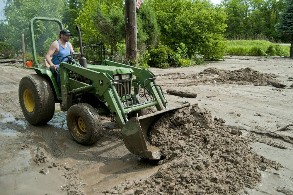 Clearing away the mud