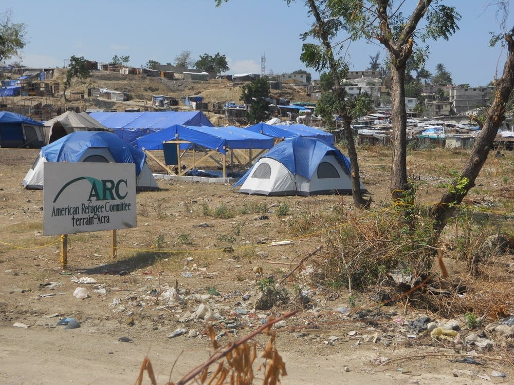 American Refugee Committee tents
