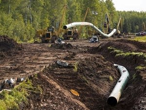 Construction on the pipeline, in Wisconsin.