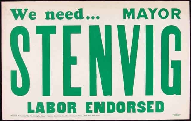An undated election poster for Charles Stenvig, former mayor of Minneapolis