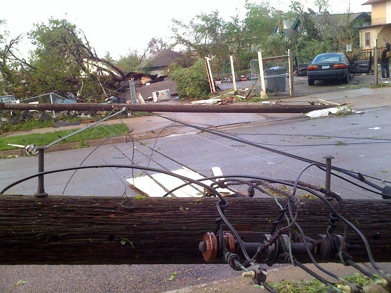Scene on day of tornado