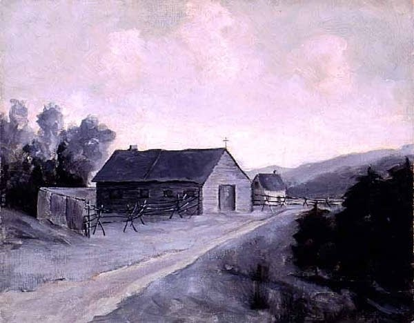 An oil painting of the Chapel of St. Paul, 1884