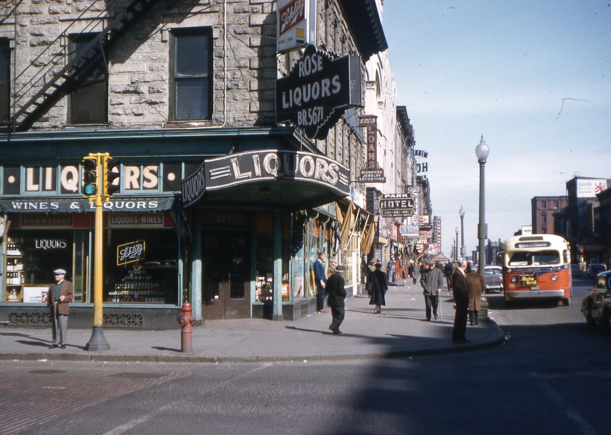 Corner of Nicollet and Washington in the mid-1950s