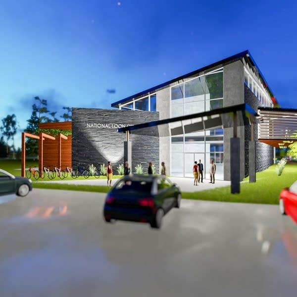 National Loon Center renderings.