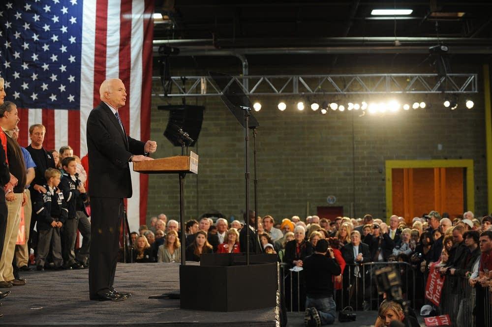 John McCain in Bensalem, Pennsylvania