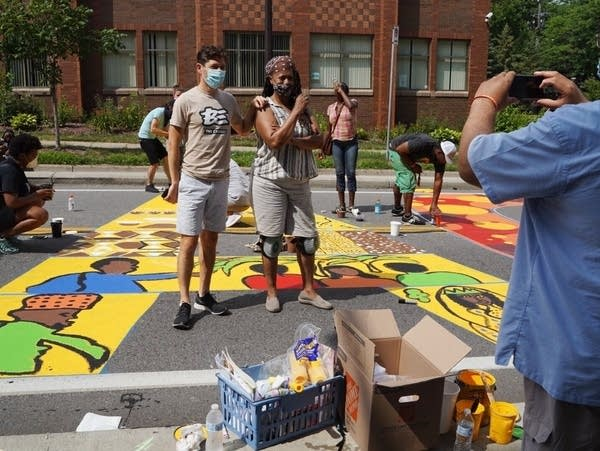 Artists work on Black Lives Matter in Minneapolis