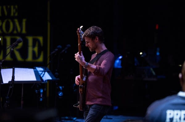Michael League on bass for Snarky Puppy