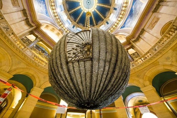 The Chandelier above the Capitol's rotunda.