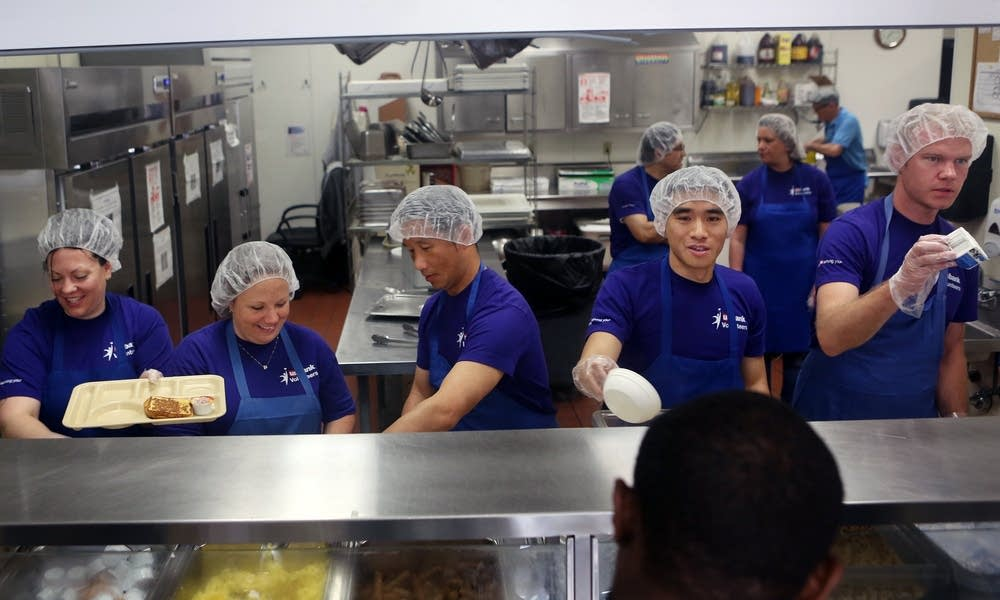 Serving breakfast