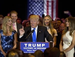 Trump speaks after Indiana primary win
