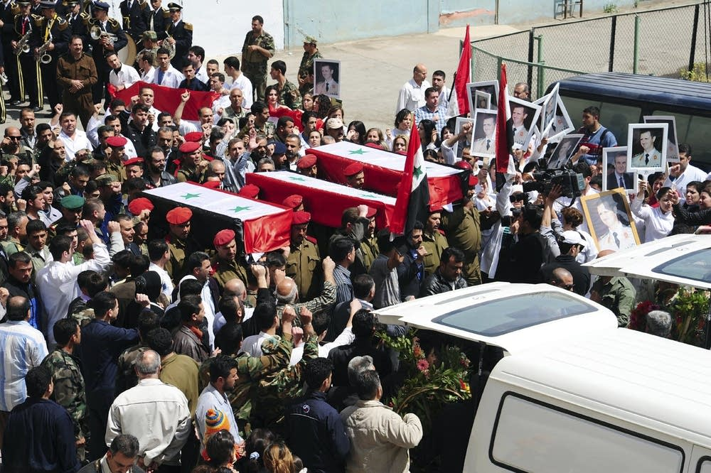 Coffins in Syria