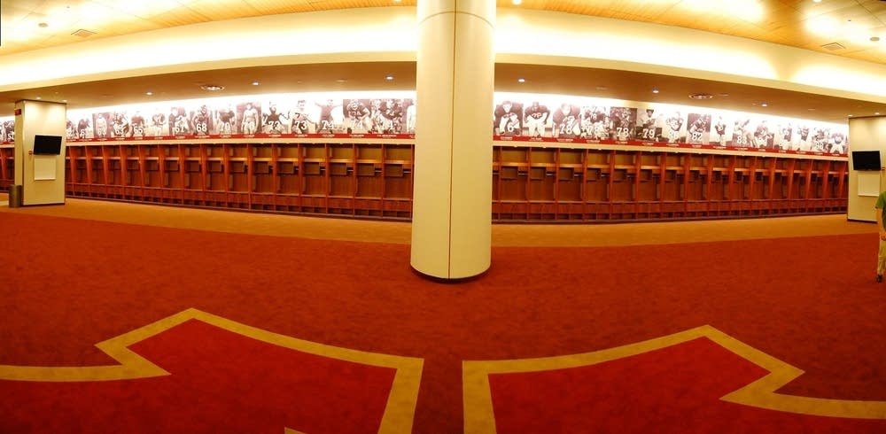 New lockeroom at the TCF Stadium