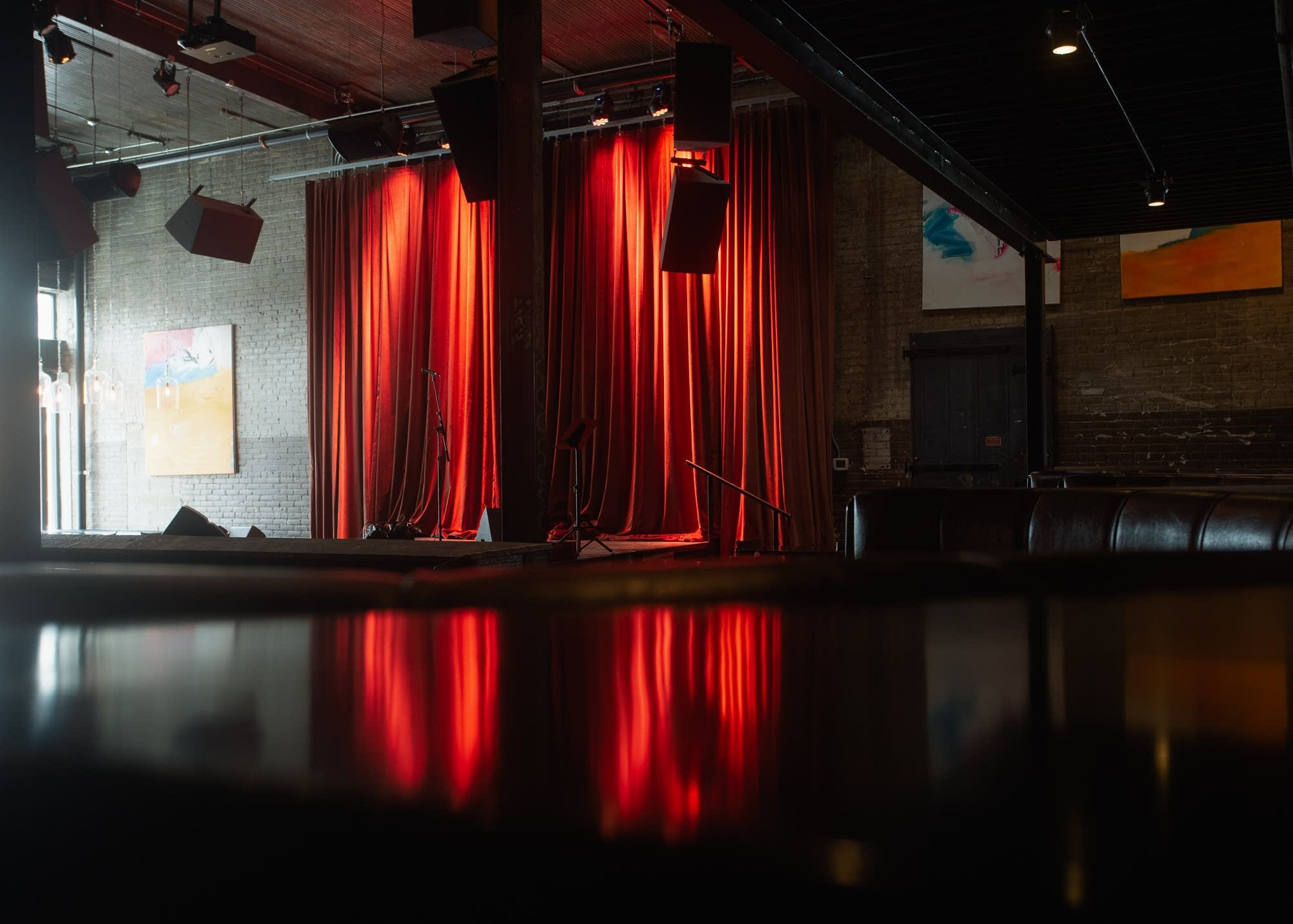Daylight shines onto an empty stage at Icehouse