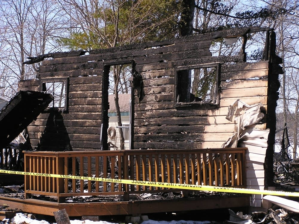 Torched cabin