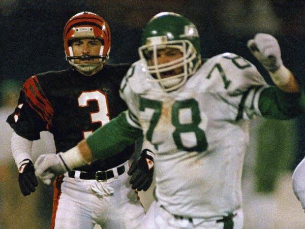 Cincinnati Bengals placekicker Jim Breech and New York Jets' Barry Bennett