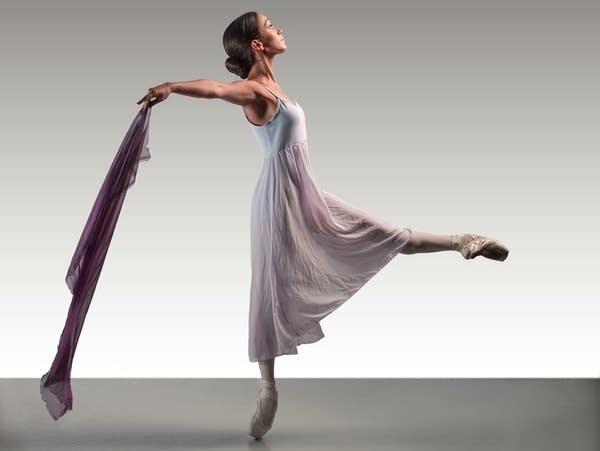 A ballet dancer performs.