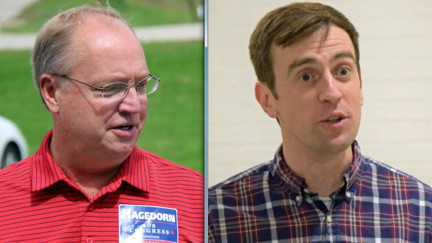 Republican Jim Hagedorn (left) and Democrat Dan Feehan