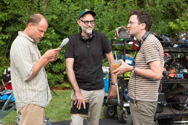 Woody Harrelson, director Craig Johnson and screenwriter Daniel Clowes