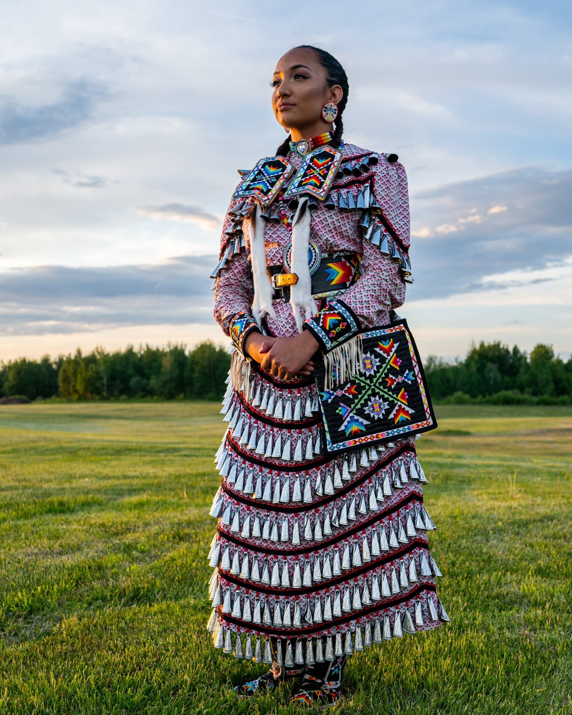 Mikah Whitecloud of the Red Lake Nation and the Choctaw Nation of Oklahoma.