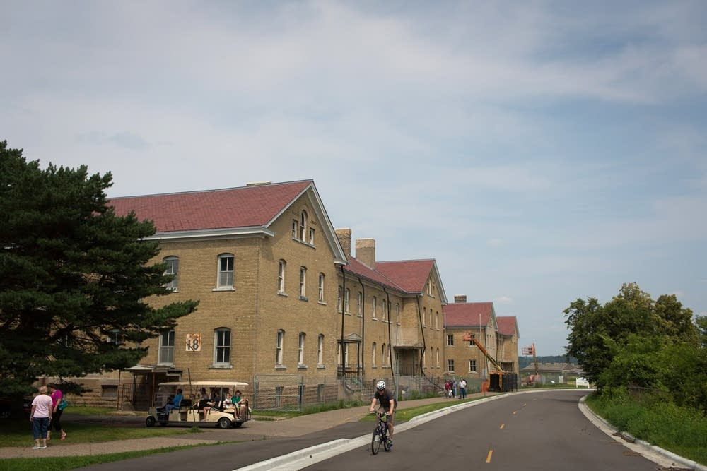 Two historic cavalry barracks at Fort Snelling