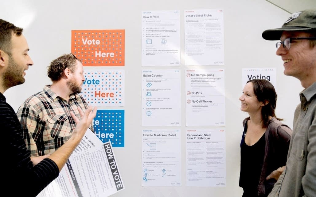 The Minneapolis College of Art and Design redesigned polling signs.