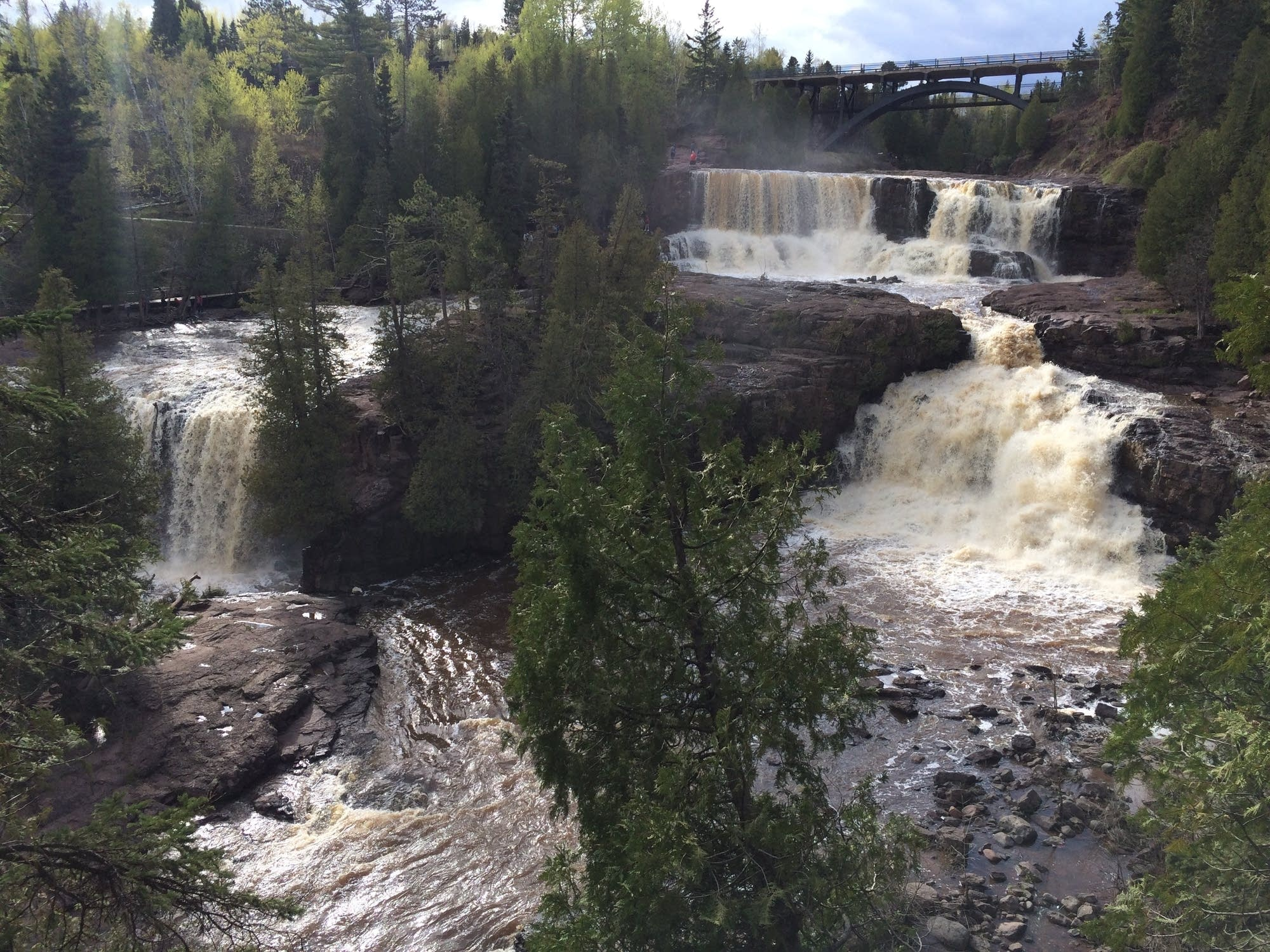 Waterfalls at Gooseberry Falls State Park in Two Harbors Minn