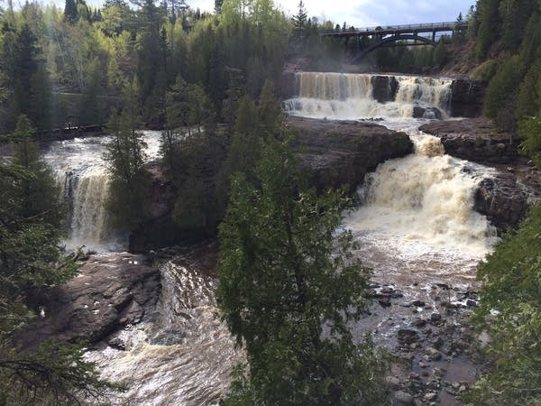 Waterfalls at Gooseberry Falls State Park in Two Harbors, Minn.