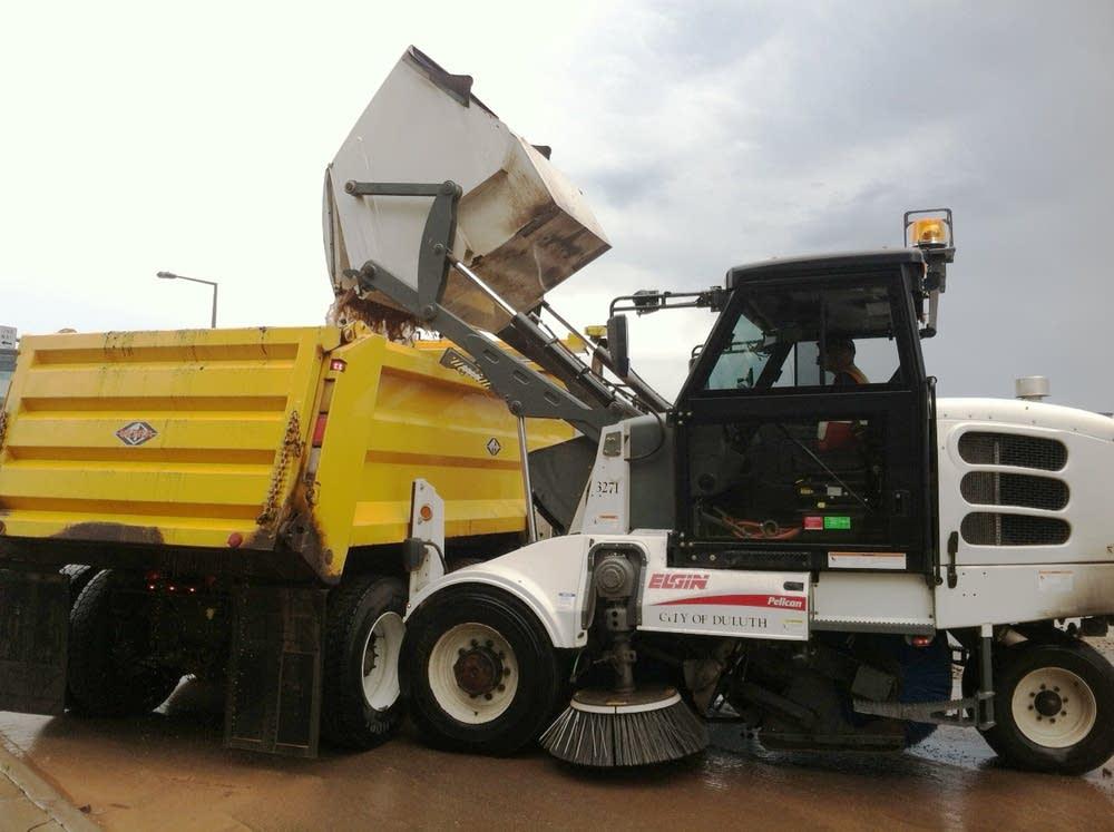 Cleaning debris