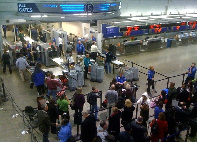 Security lines at MSP