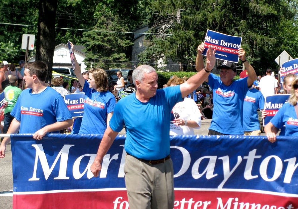 Mark Dayton at a July 3 parade