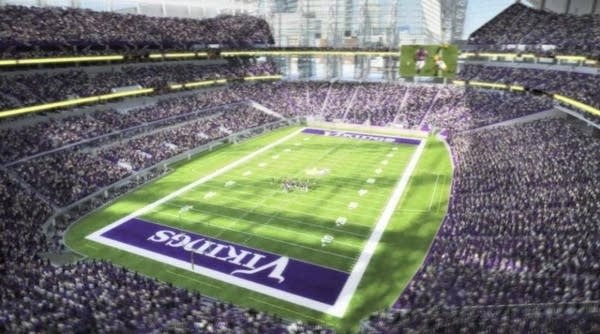 Artist's rendering of Vikings stadium.