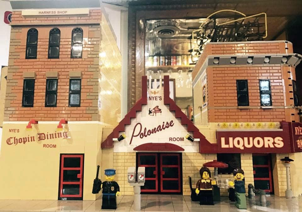 Jeff Esler's Lego model of Nye's Polonaise Room