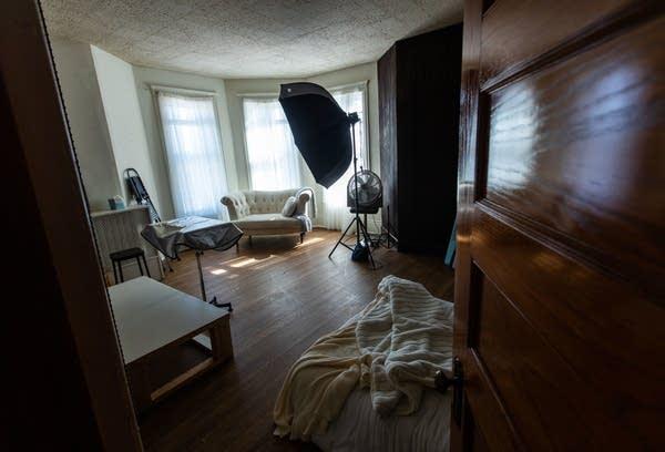 An empty photo studio
