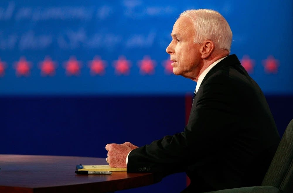 John McCain answers a question