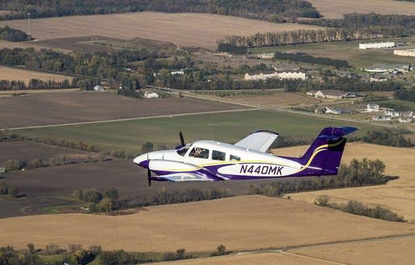 Ethan Troe flew over the Mankato area.