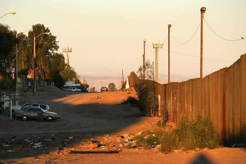 A section of the U.S.-Mexico border fence