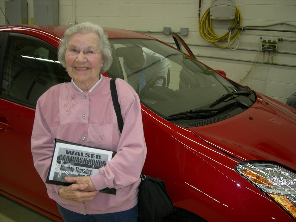 Rose Laabs of Rochester is a big Prius fan