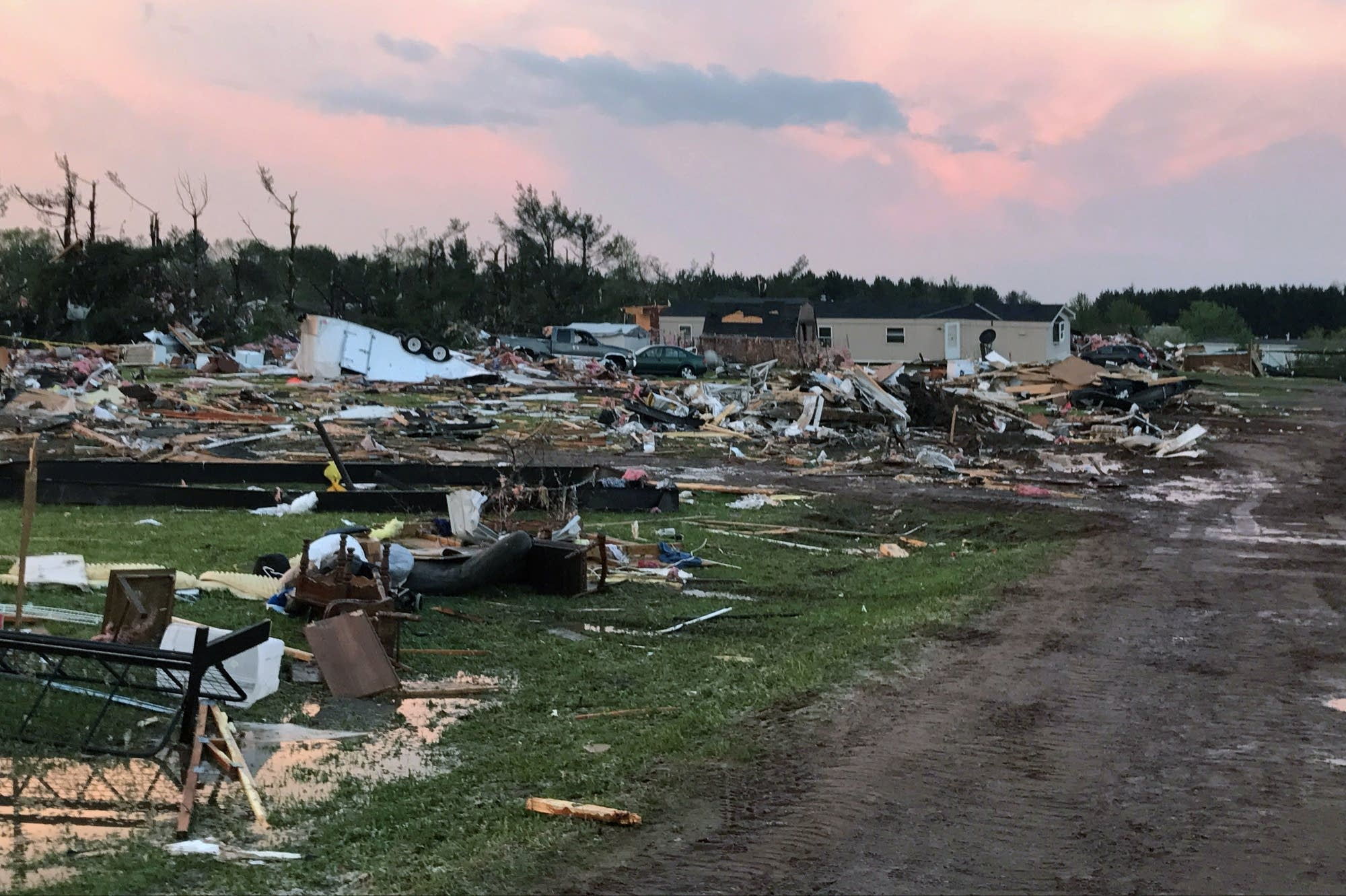 Tornado damage in Barron County, Wisconsin.