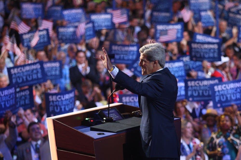 Sen. John Kerry speaks during day three of the DNC