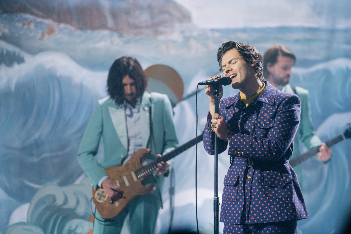 Harry Styles performs on 'The Late Late Show with James Corden'