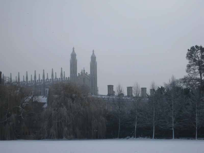 Kings College Chapel in the Snow