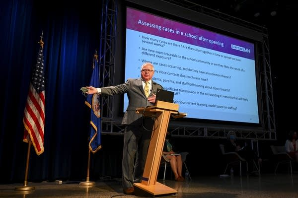 Gov. Walz announces plans for Minnesota schools for 2020-21 school year.