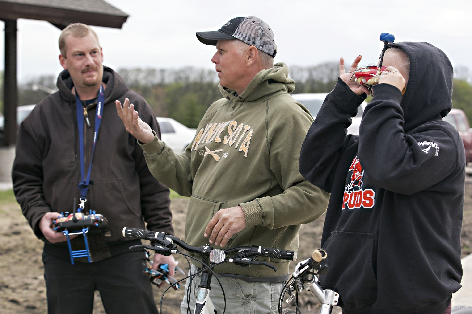 Drone racing often attracts onlookers and a few questions.