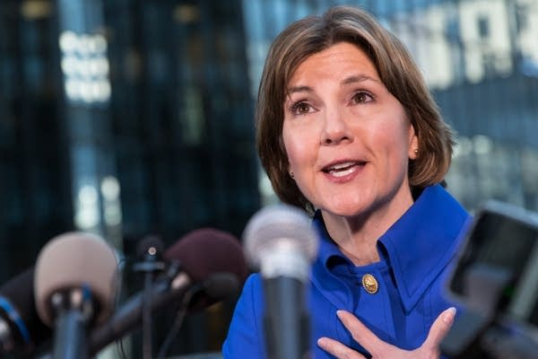 Attorney general Lori Swanson announces she is running for governor.