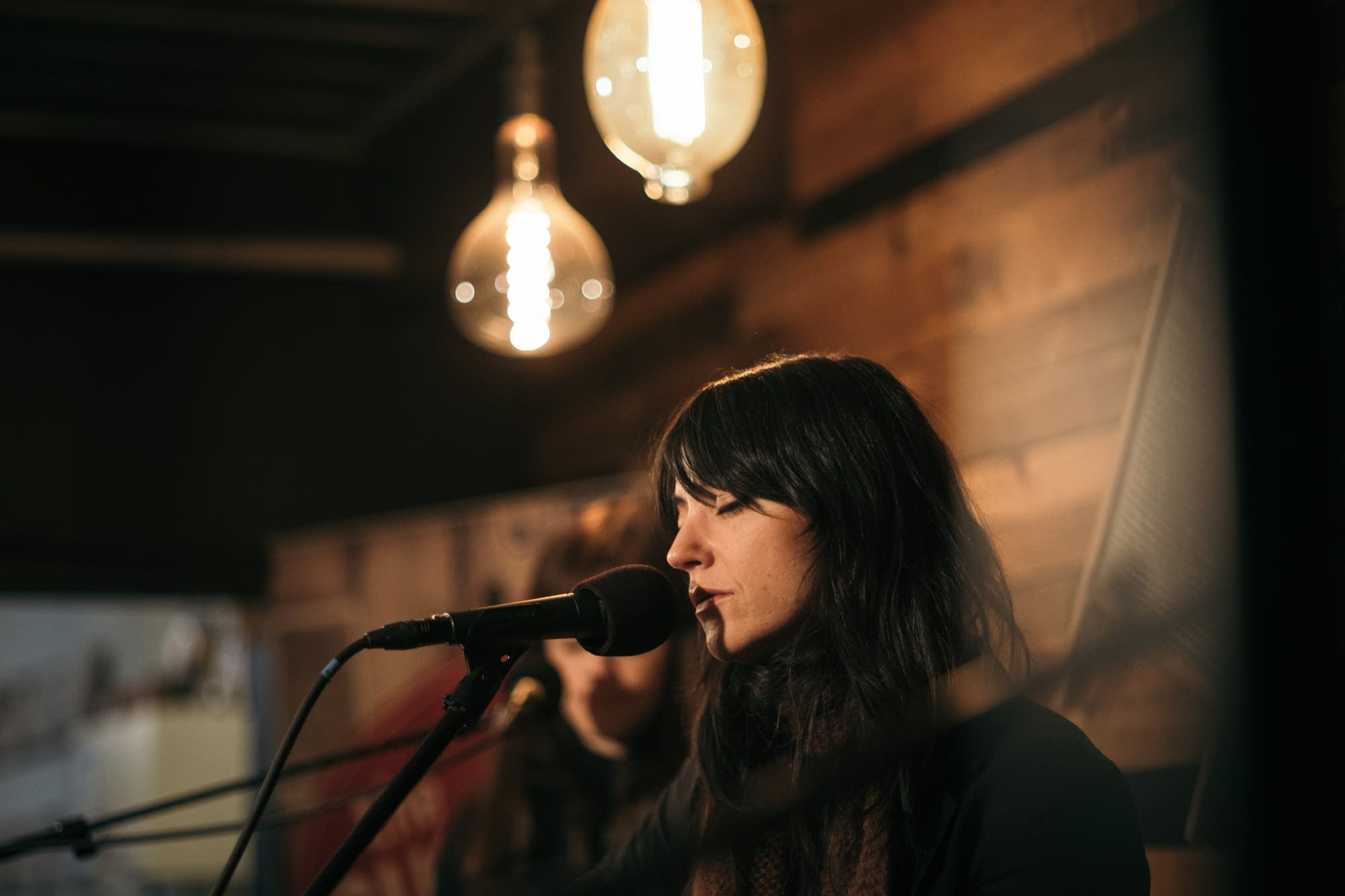 Sharon Van Etten performs a MicroShow at the Warming House