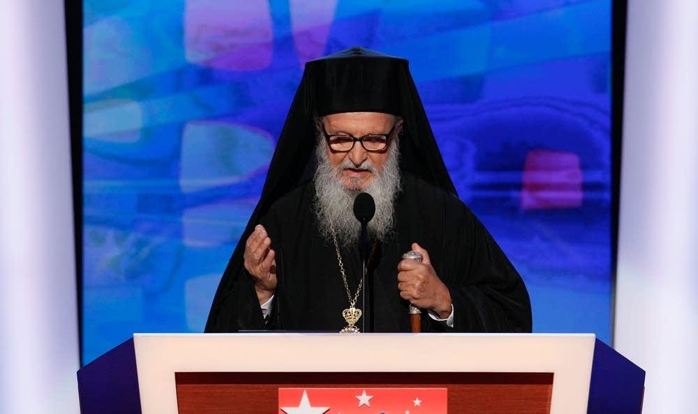 Archbishop Demetrios at the DNC